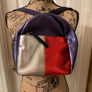 New Tommy Hilfiger Blue, Red and Silver Backpack